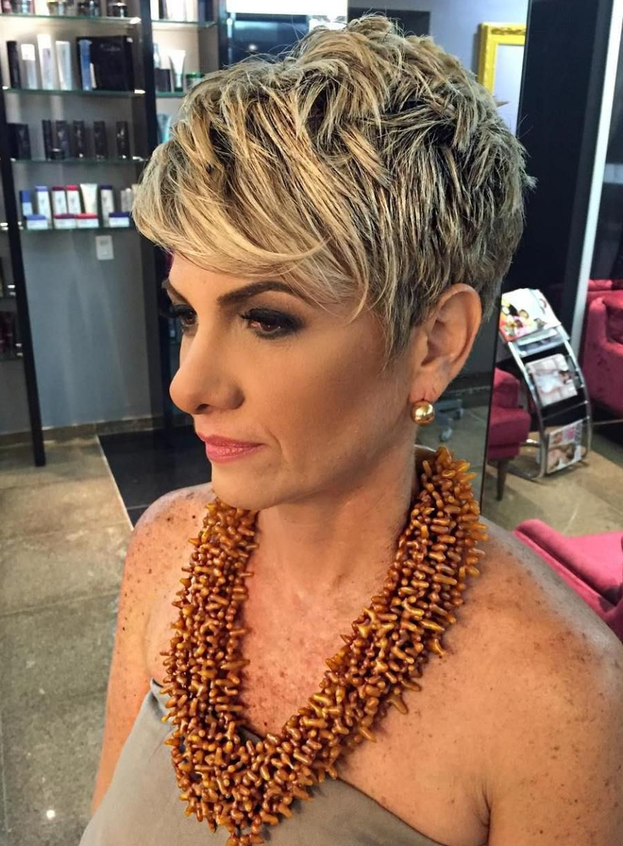 80 Best Modern Haircuts And Hairstyles For Women Over 50 | Hair Inside Blonde Pixie Haircuts For Women 50+ (View 11 of 20)
