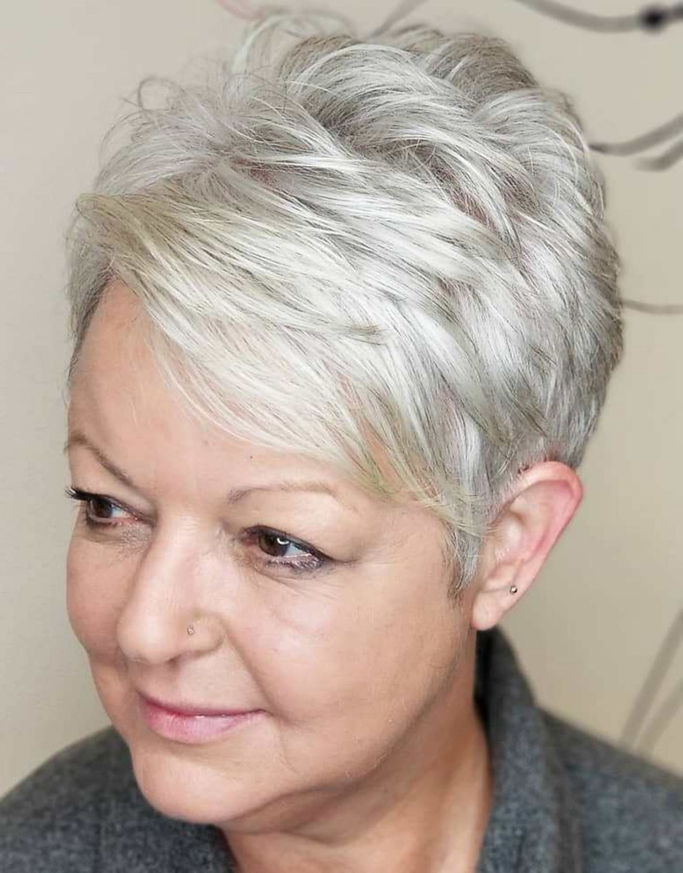 80 Best Modern Haircuts And Hairstyles For Women Over 50 In 2018 Regarding Ruffled Pixie Hairstyles (View 17 of 20)