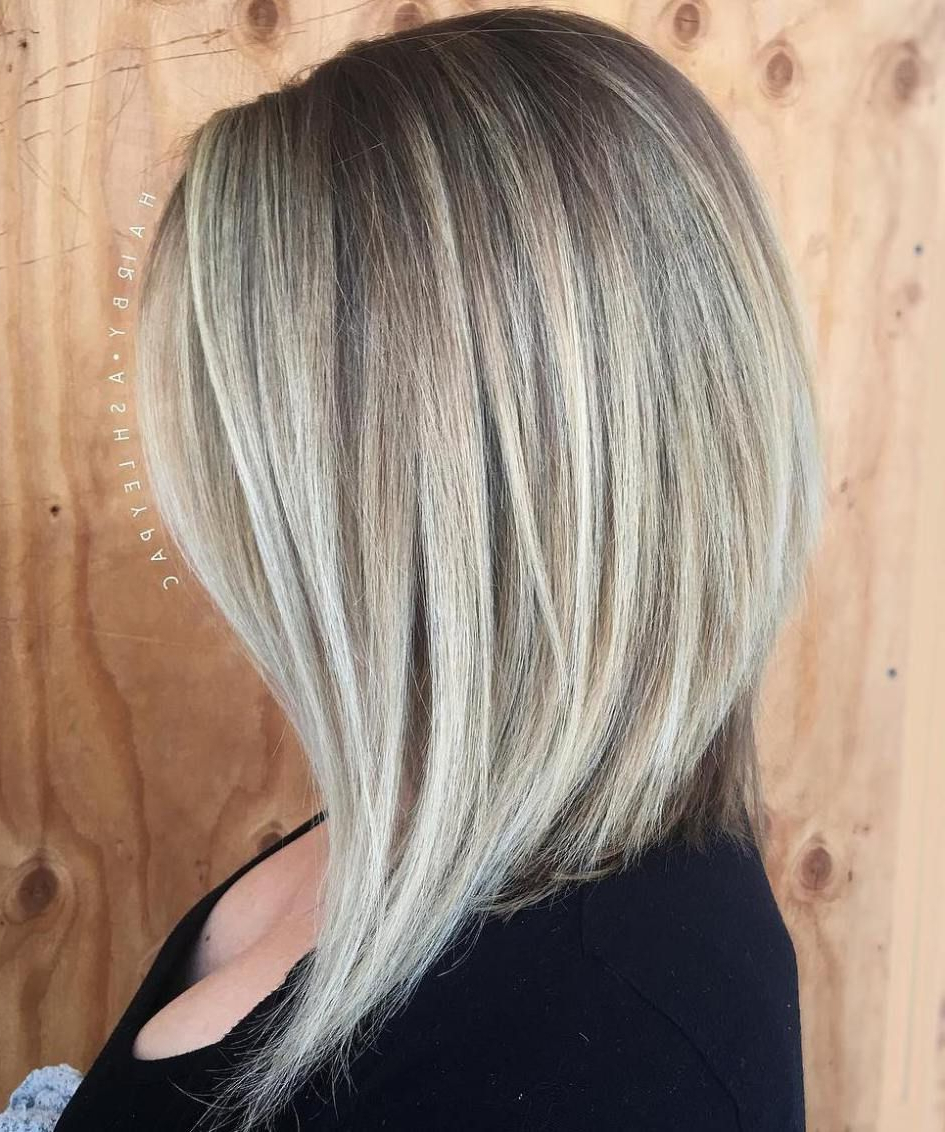 80 Sensational Medium Length Haircuts For Thick Hair In 2018 | Hair With Regard To Angled Ash Blonde Haircuts (Gallery 1 of 20)