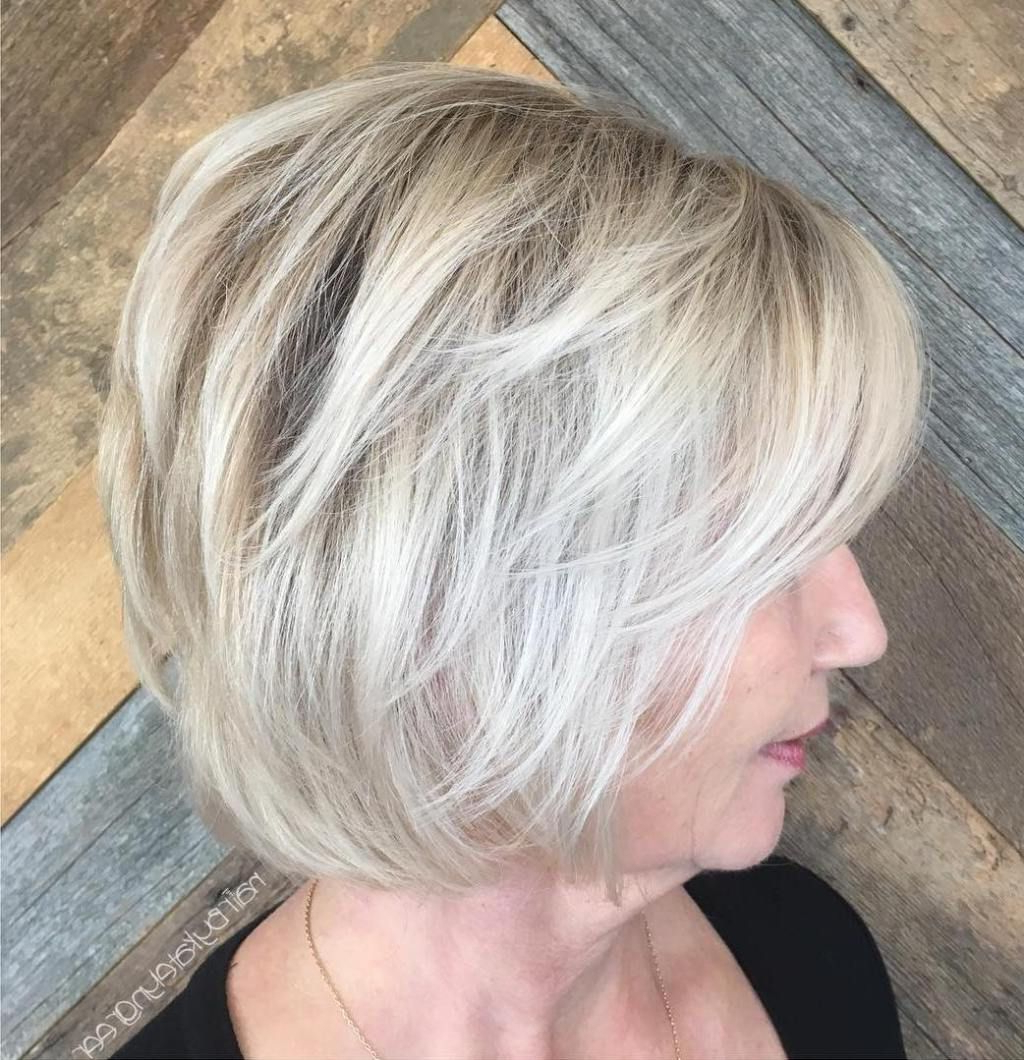 90 Classy And Simple Short Hairstyles For Women Over 50 | Ash Blonde Pertaining To Airy Gray Pixie Hairstyles With Lots Of Layers (View 4 of 20)