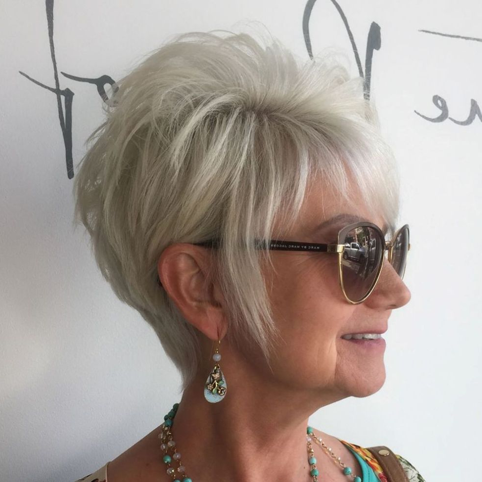90 Classy And Simple Short Hairstyles For Women Over 50 | Cuts I With Long Ash Blonde Pixie Hairstyles For Fine Hair (View 14 of 20)
