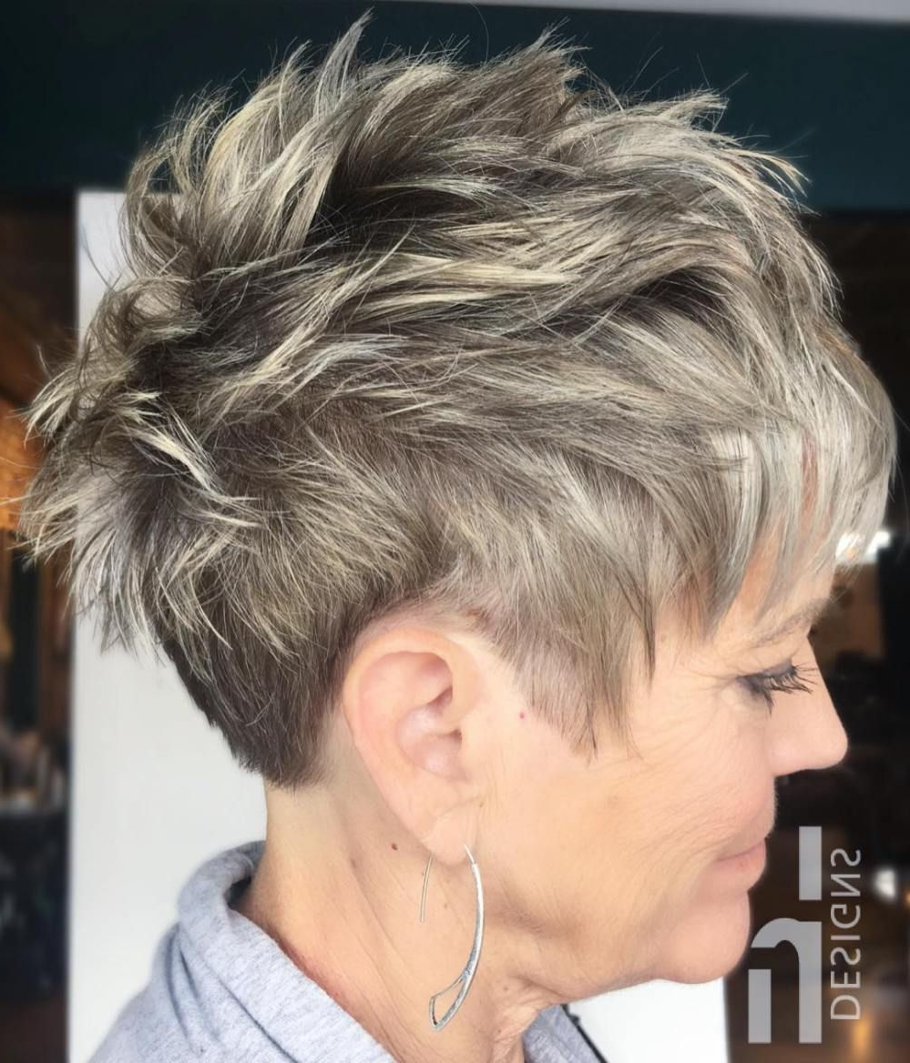 90 Classy And Simple Short Hairstyles For Women Over 50 | Hair Throughout Messy Salt And Pepper Pixie Hairstyles (Gallery 1 of 20)