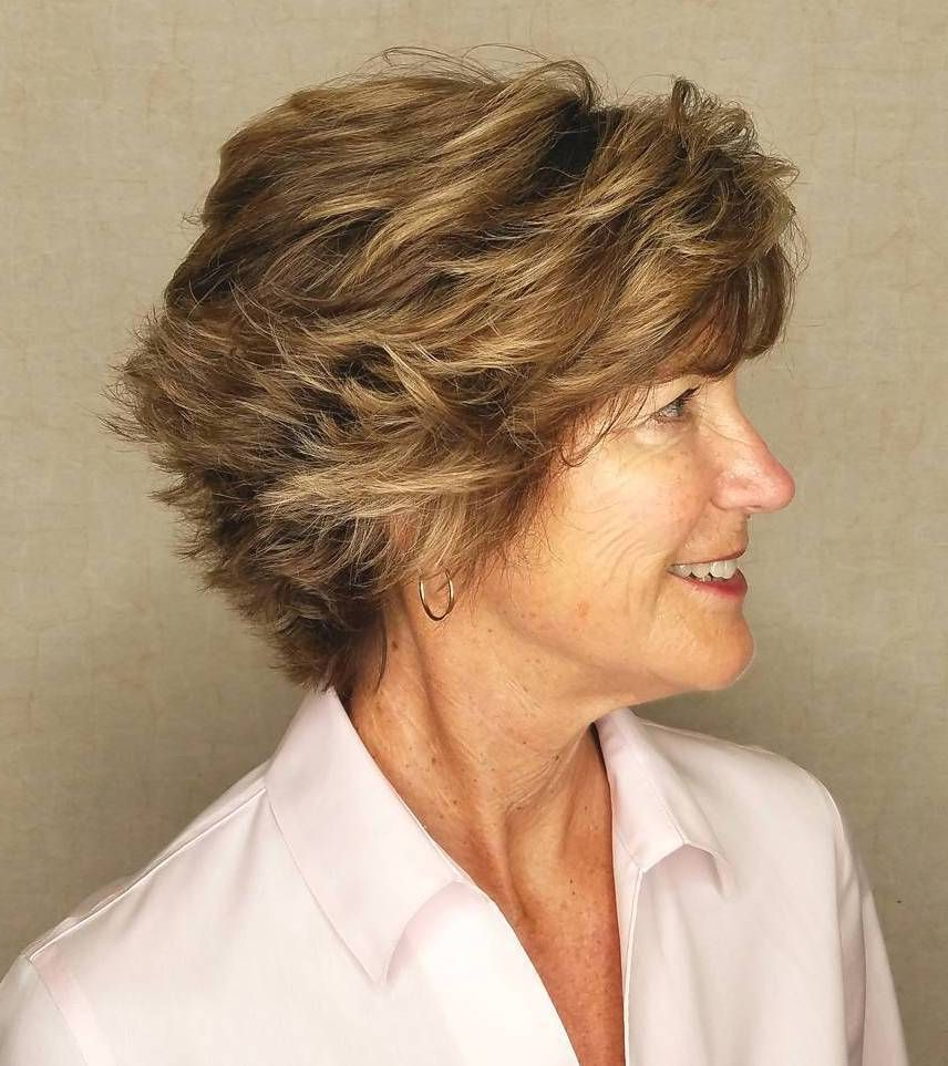 90 Classy And Simple Short Hairstyles For Women Over 50 | Hair Throughout Short Choppy Hairstyles For Thick Hair (View 8 of 20)