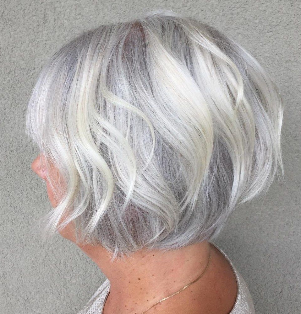 90 Classy And Simple Short Hairstyles For Women Over 50 | Hair With Wispy Silver Bob Hairstyles (View 16 of 20)