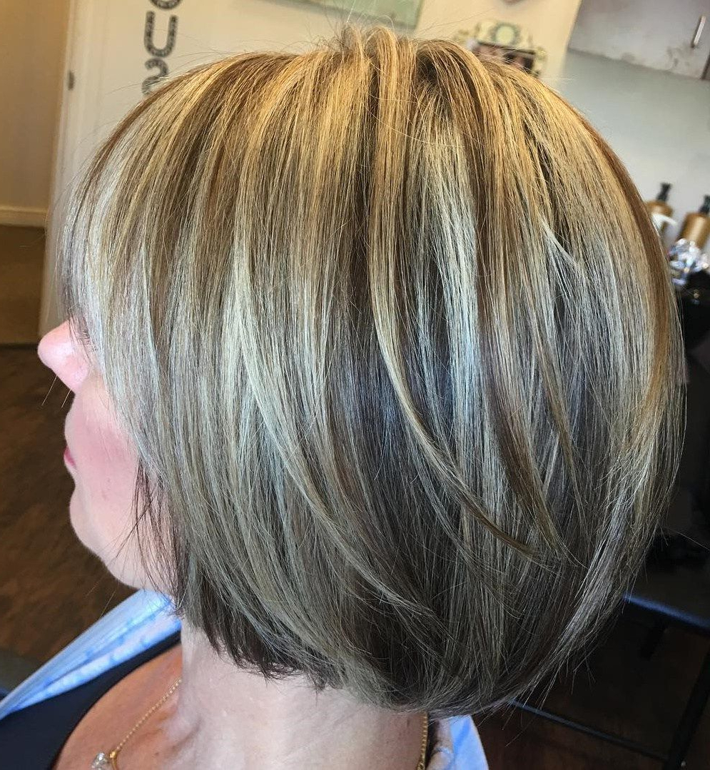 90 Classy And Simple Short Hairstyles For Women Over 50 | Haircuts In One Length Balayage Bob Hairstyles With Bangs (View 13 of 20)