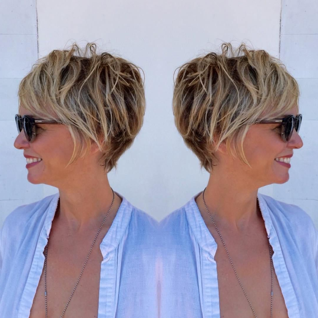 90 Classy And Simple Short Hairstyles For Women Over 50 In 2018 Inside Chic Blonde Pixie Bob Hairstyles For Women Over 50 (Gallery 2 of 20)