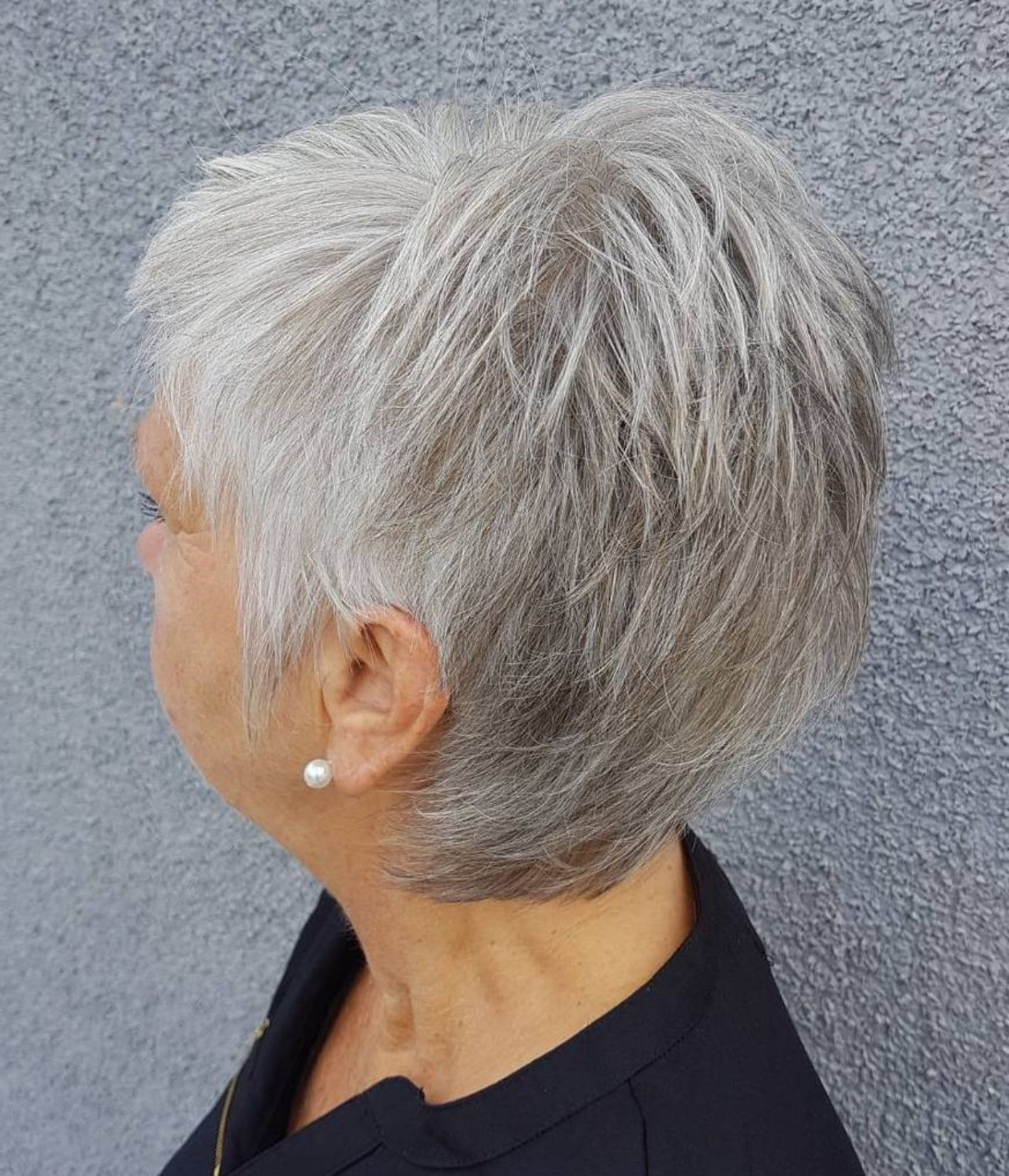 90 Classy And Simple Short Hairstyles For Women Over 50 In 2018 Inside Messy Salt And Pepper Pixie Hairstyles (Gallery 11 of 20)