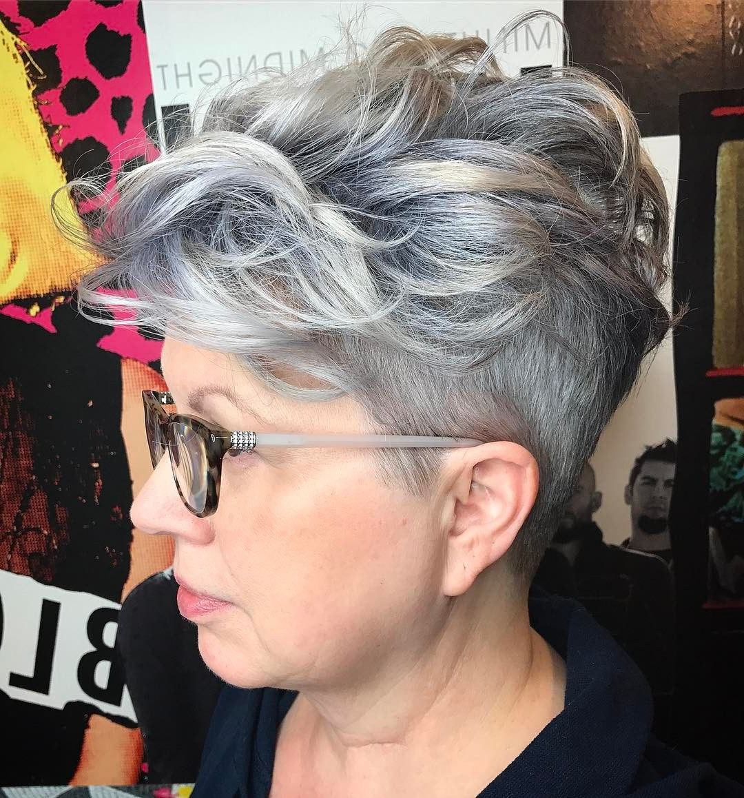 90 Classy And Simple Short Hairstyles For Women Over 50 In 2018 Inside Pixie Undercut Hairstyles For Women Over 50 (Gallery 1 of 20)