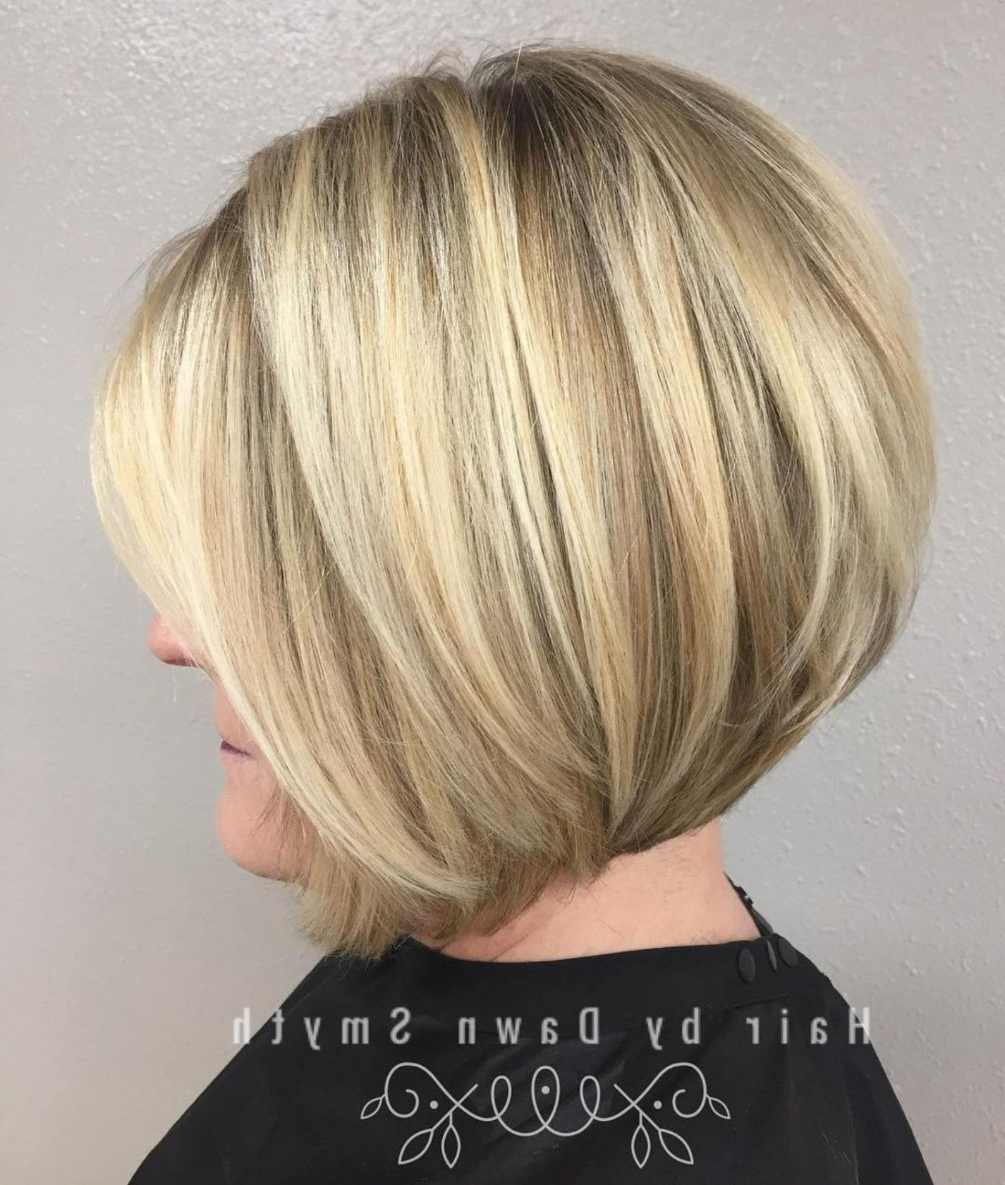 90 Classy And Simple Short Hairstyles For Women Over 50 In 2018 Intended For Rounded Bob Hairstyles With Stacked Nape (View 7 of 20)