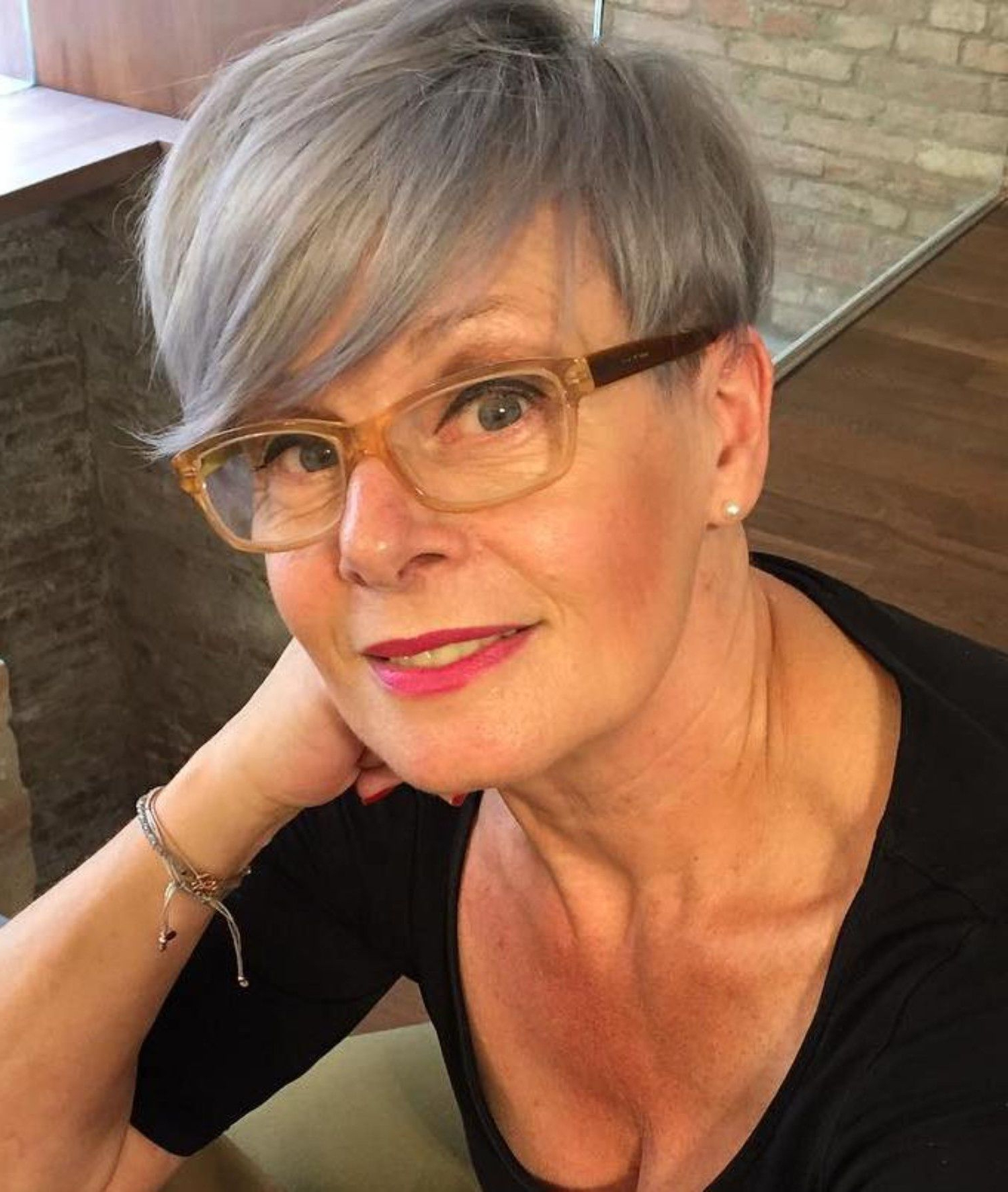 90 Classy And Simple Short Hairstyles For Women Over 50 In 2018 Throughout Cropped Gray Pixie Hairstyles With Swoopy Bangs (View 15 of 20)