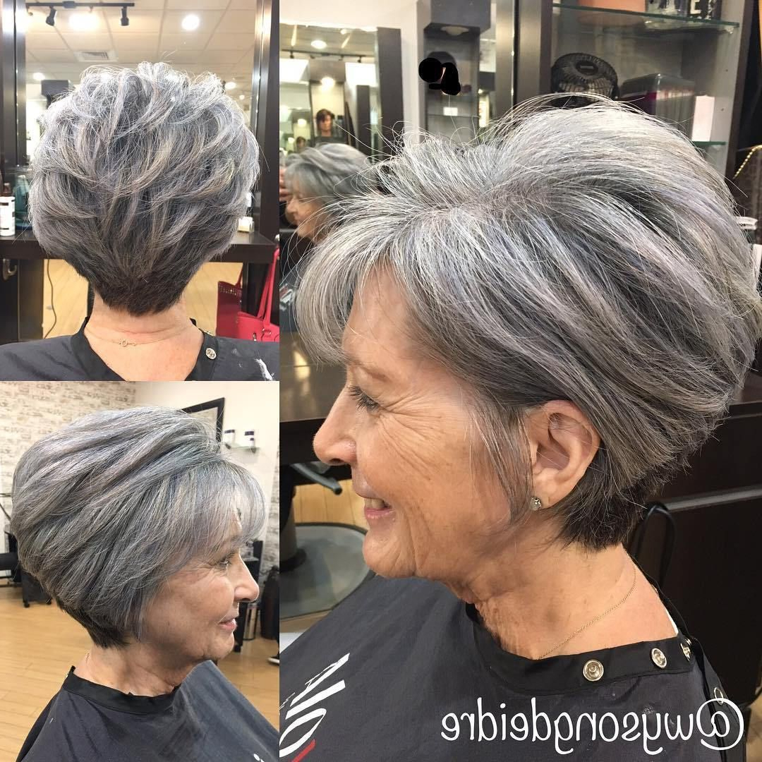 90 Classy And Simple Short Hairstyles For Women Over 50 In 2018 Throughout Salt And Pepper Voluminous Haircuts (View 9 of 20)