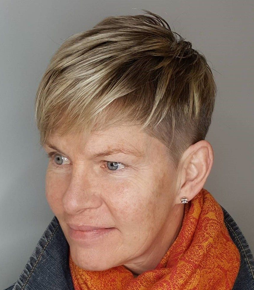 90 Classy And Simple Short Hairstyles For Women Over 50 In 2018 With Regard To Pixie Undercut Hairstyles For Women Over (View 12 of 20)