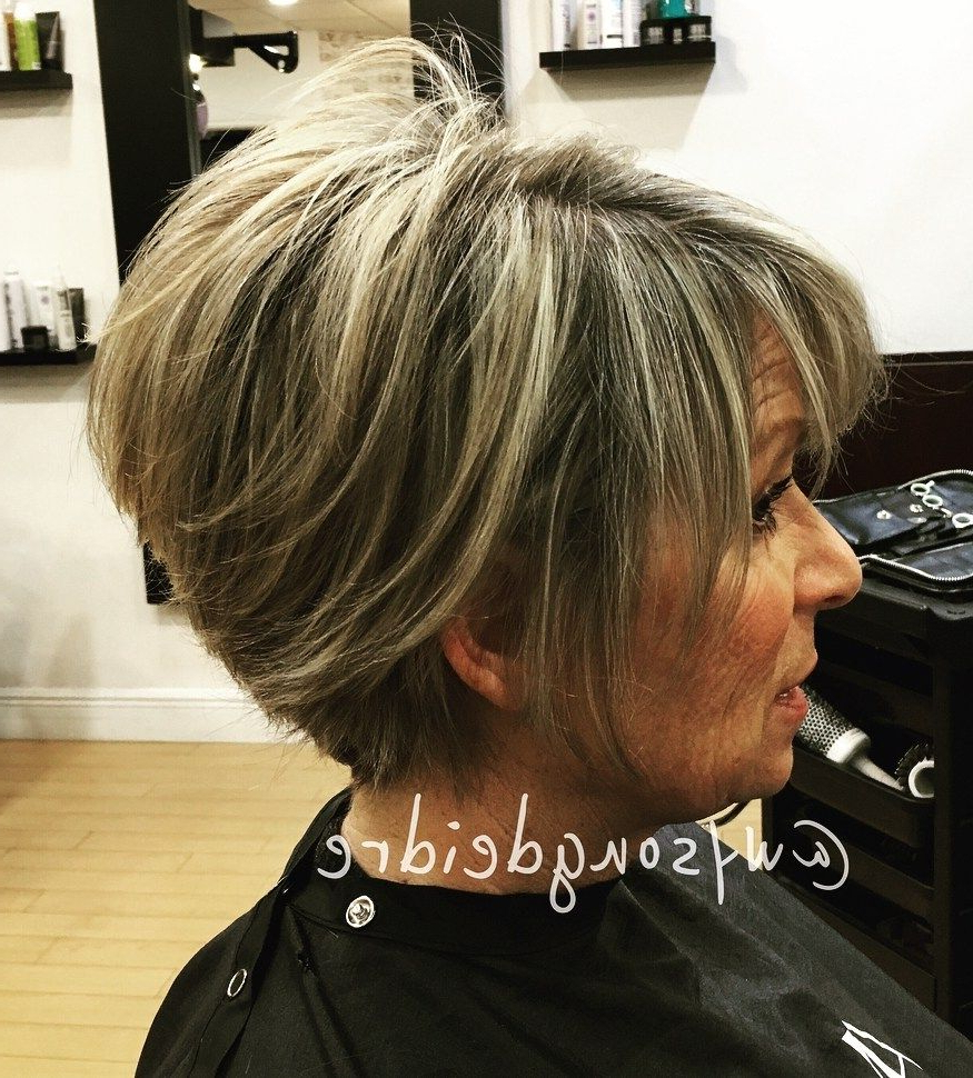 90 Classy And Simple Short Hairstyles For Women Over 50 | Pixie Bob In Pixie Bob Hairstyles With Blonde Babylights (View 9 of 20)