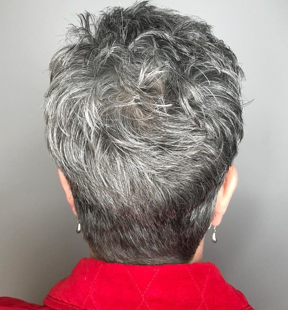 90 Classy And Simple Short Hairstyles For Women Over 50 | Pixies Pertaining To Tapered Gray Pixie Hairstyles With Textured Crown (View 2 of 20)