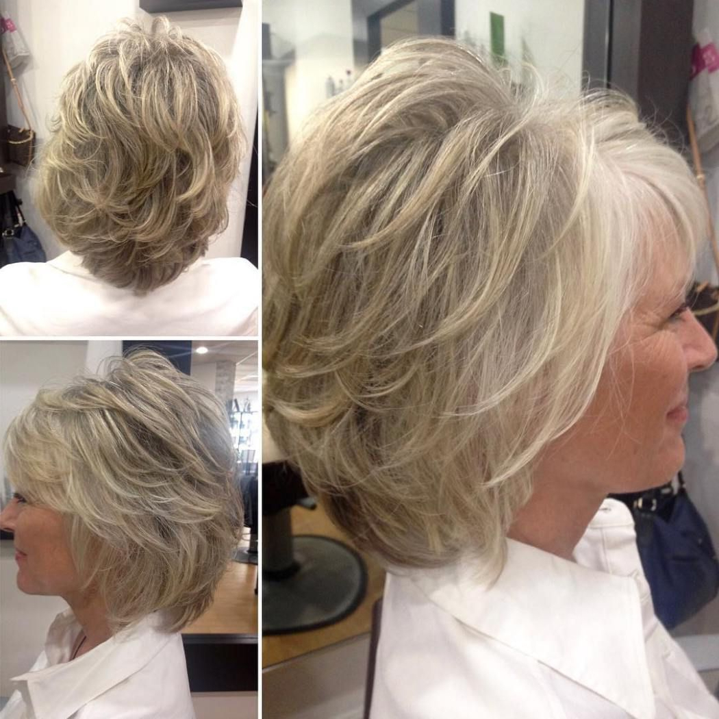 90 Classy And Simple Short Hairstyles For Women Over 50 | Short With Gray Hairstyles With High Layers (View 12 of 20)