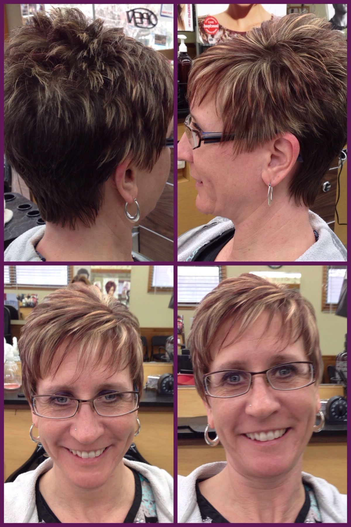 A Pixie Haircut W/ Burgundy Red Lowlights & Light Blonde Highlights Pertaining To Short Ruffled Hairstyles With Blonde Highlights (Gallery 18 of 20)
