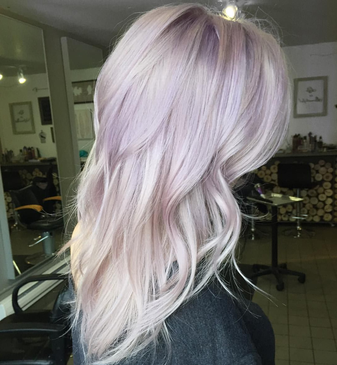 A Touch Of Lilac For This Blonde Beauty | Magical Hair Colors In For Lavender Hairstyles For Women Over 50 (Gallery 10 of 20)
