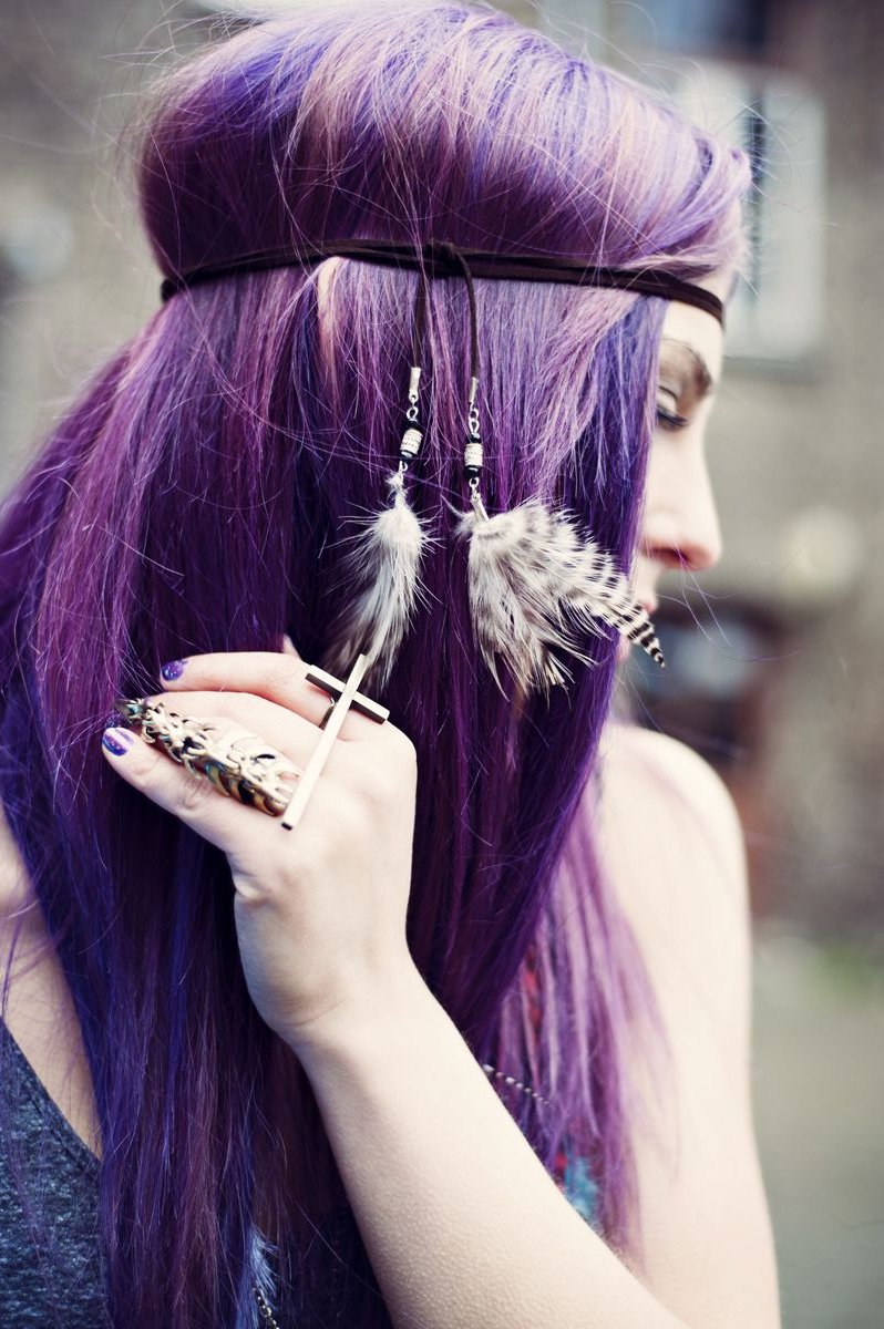 Alternative Hairstyles: 'purple Haze' Hippy Chic | Alternative Intended For Purple Haze Hairstyles (View 4 of 20)