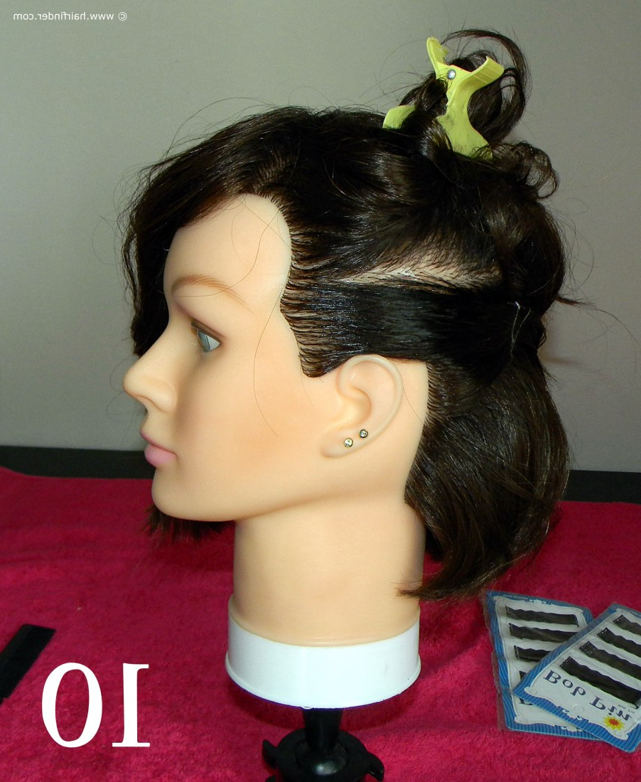 Angled Bob With A Faux Side Undercut With Regard To Angled Undercut Hairstyles (View 7 of 20)