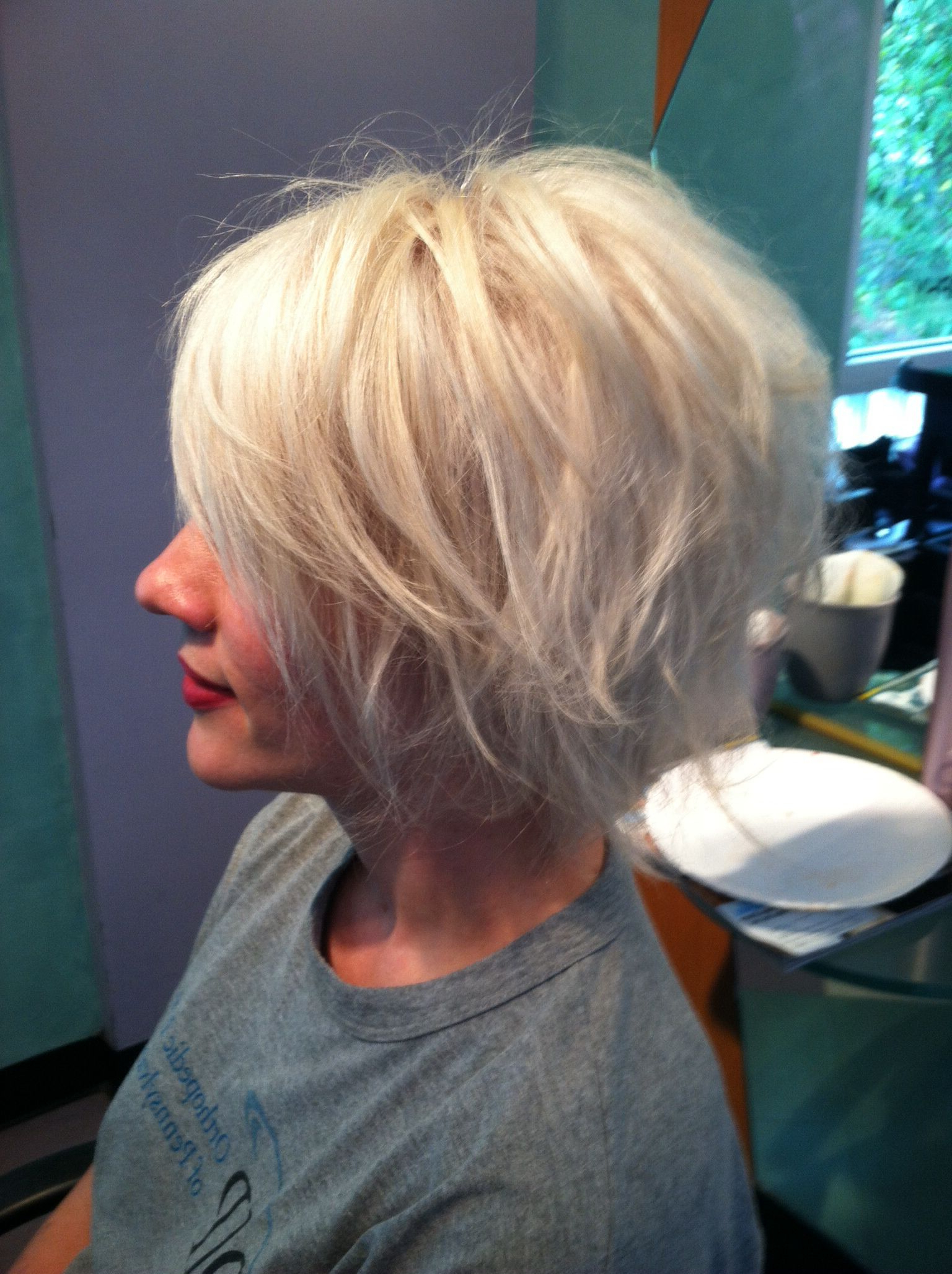 Ann's Platinum Layered Bob | Hairkelly O'connor | Pinterest Regarding Layered Platinum Bob Hairstyles (Gallery 7 of 20)