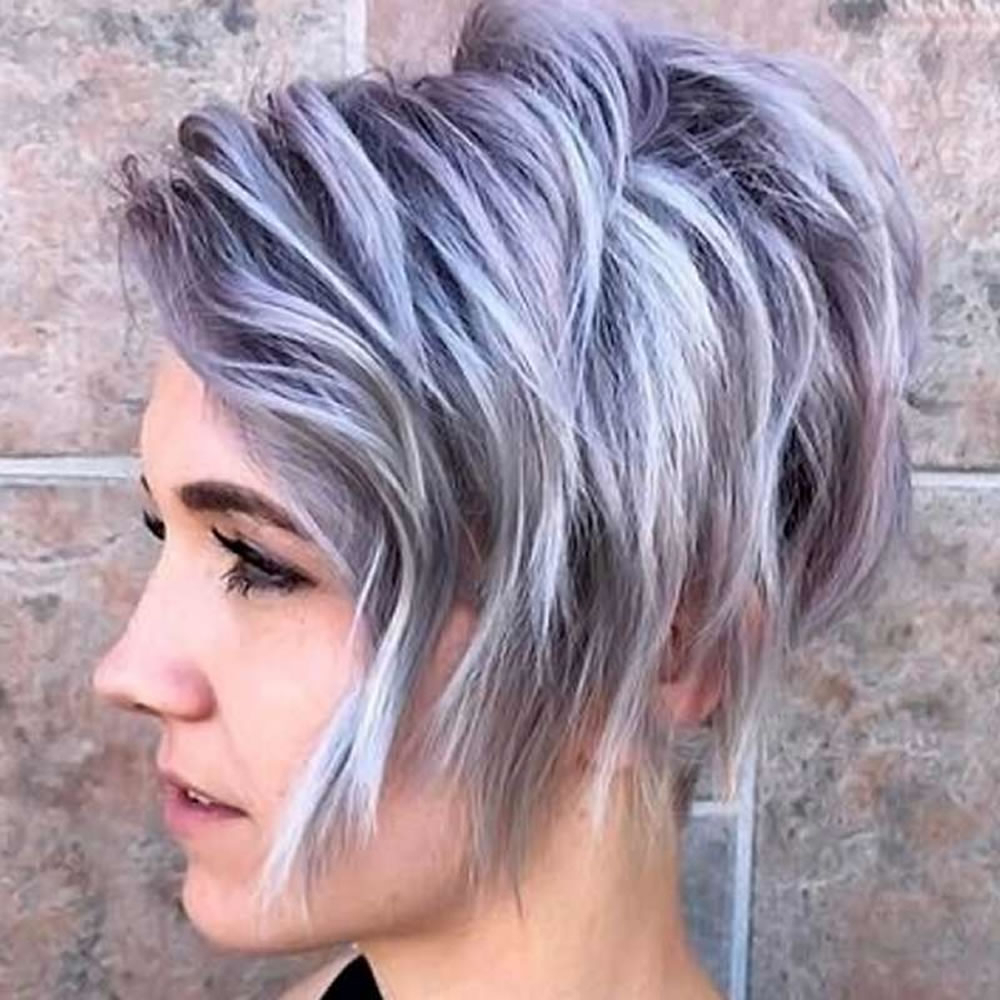 Balayage Asymmetrical Curly Bob Hairstyles – Short Bob Haircuts 2018 Inside Asymmetrical Silver Pixie Hairstyles (View 14 of 20)
