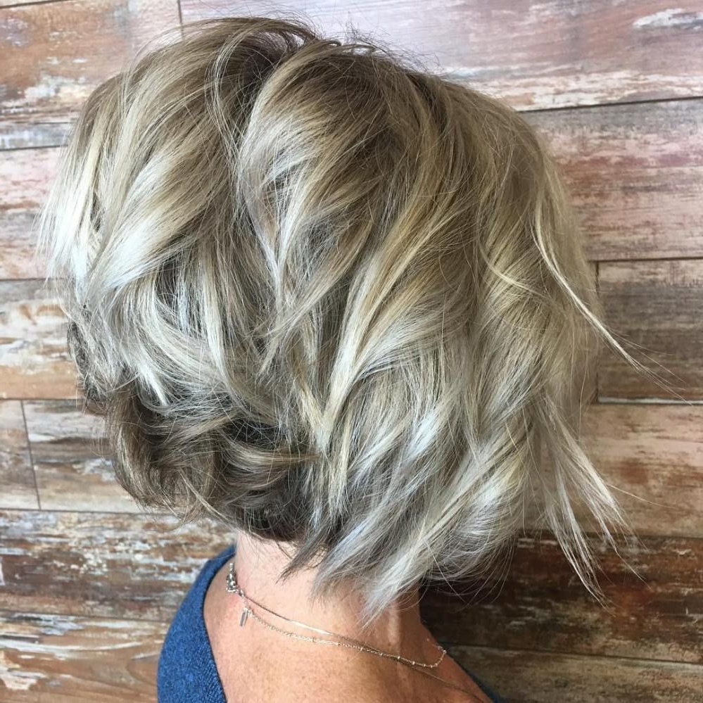 Blonde Balayage Bob With Angled Layers | Pictures For Rhonda Intended For Blonde Balayage Bob Hairstyles With Angled Layers (View 4 of 20)