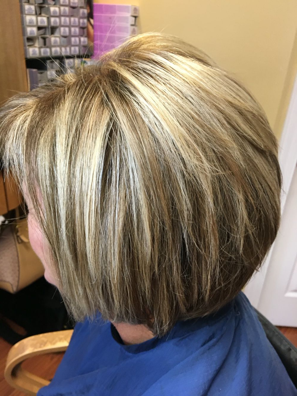 Blonde Highlights And Lowlights For This Short Hair Cut And Style In Short Ruffled Hairstyles With Blonde Highlights (View 5 of 20)