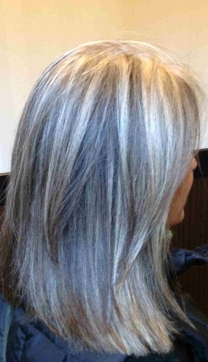 Blonde Highlights For Gray Hair – Here's A Good Idea To Camouflage For Gray Hairstyles With High Layers (View 13 of 20)