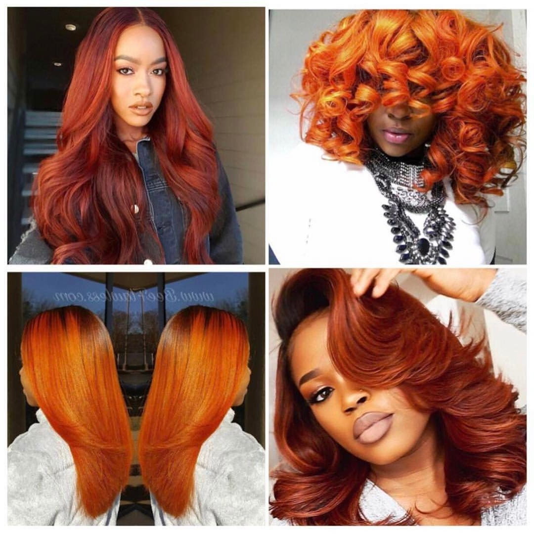 Featured Photo of Burnt Orange Bob Hairstyles With Highlights
