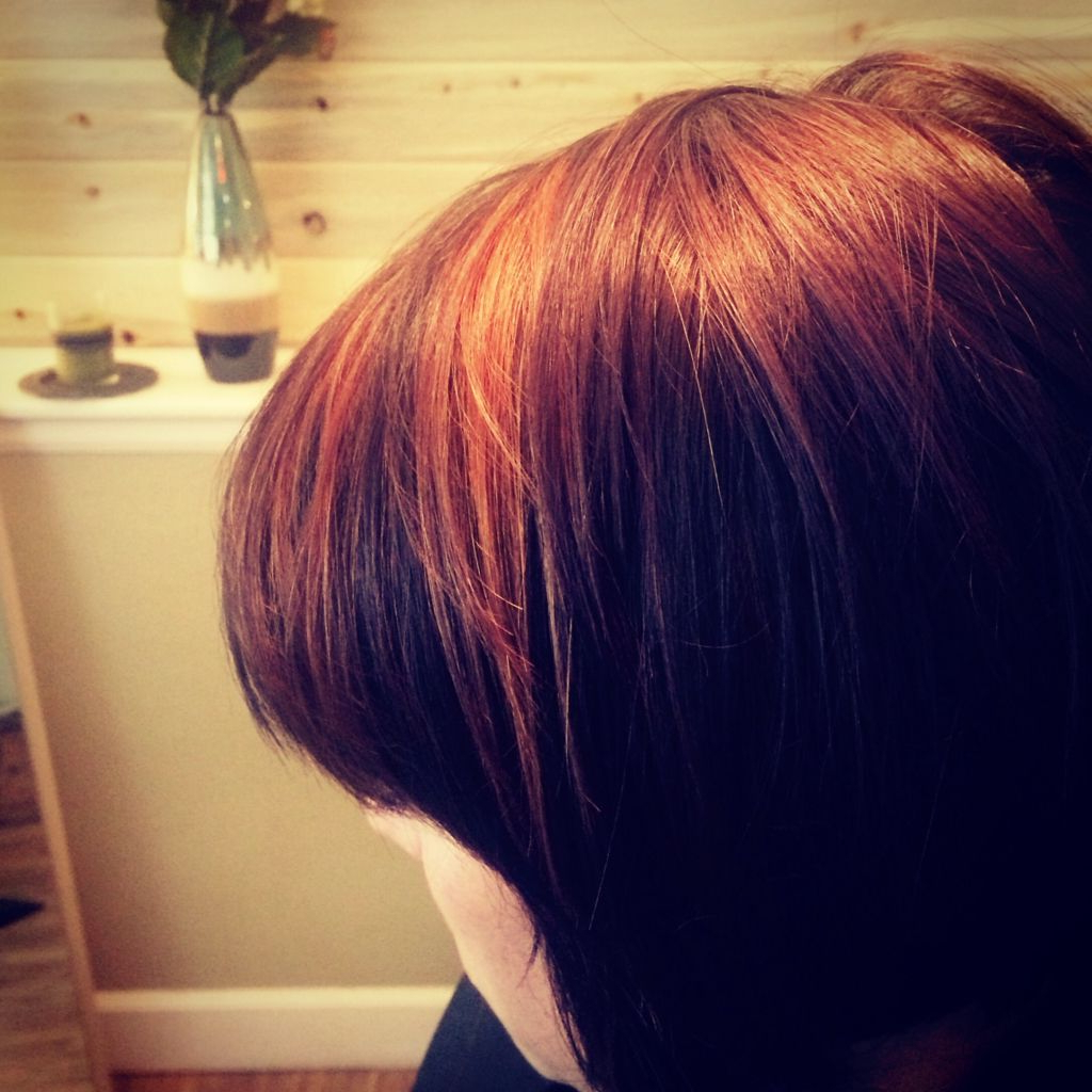 Burnt Sienna Hair Color And Highlights With Short Razor Bob Cut In Burnt Orange Bob Hairstyles With Highlights (View 9 of 20)