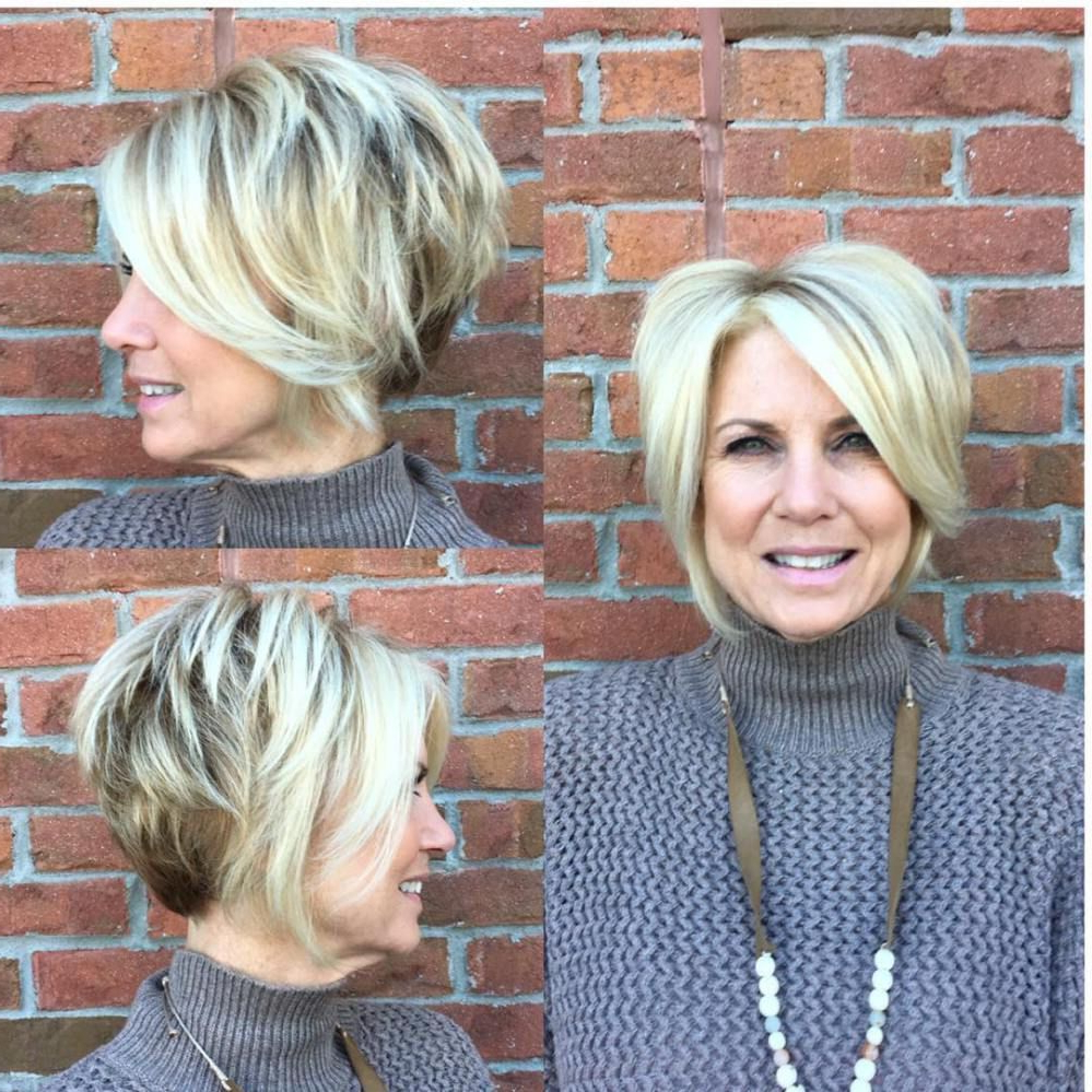 Featured Photo of Chic Blonde Pixie Bob Hairstyles For Women Over