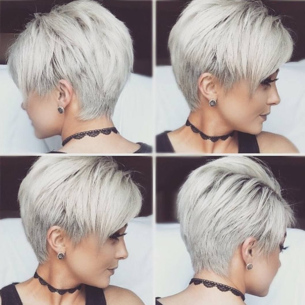 Featured Photo of Gray Pixie Hairstyles For Thick Hair