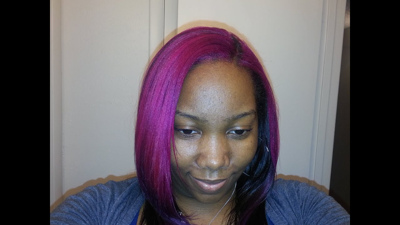 Coloring My Natural Hair Using Manic Panic Purple Haze And Hot Hot In Purple Haze Hairstyles (View 9 of 20)