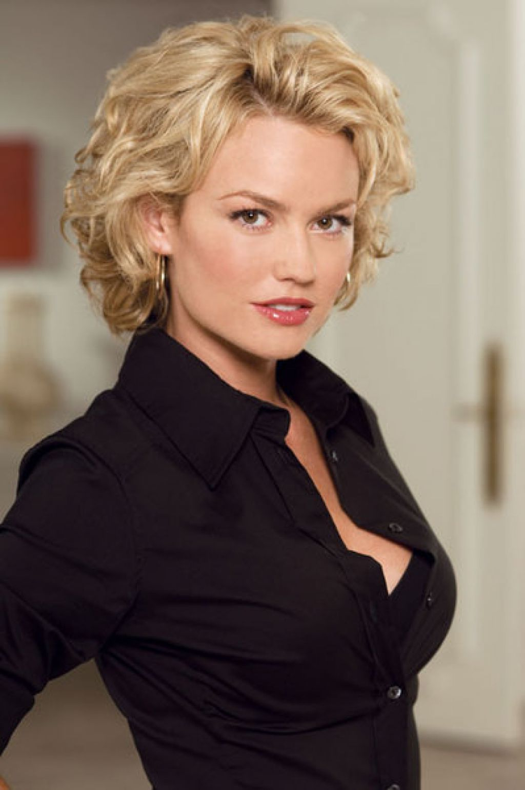 Curly Hairstyles For Women Over 40 | Over 40 Hairstyles | Pinterest Pertaining To Pure Blonde Shorter Hairstyles For Older Women (View 18 of 20)