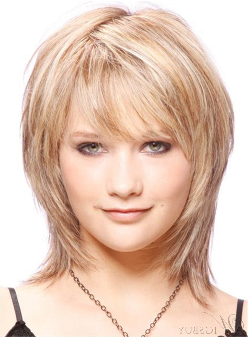 Cute Short Layered Blonde Haircut Synthetic Hair Capless Wigs 10 Intended For Short Layered Blonde Hairstyles (View 16 of 20)