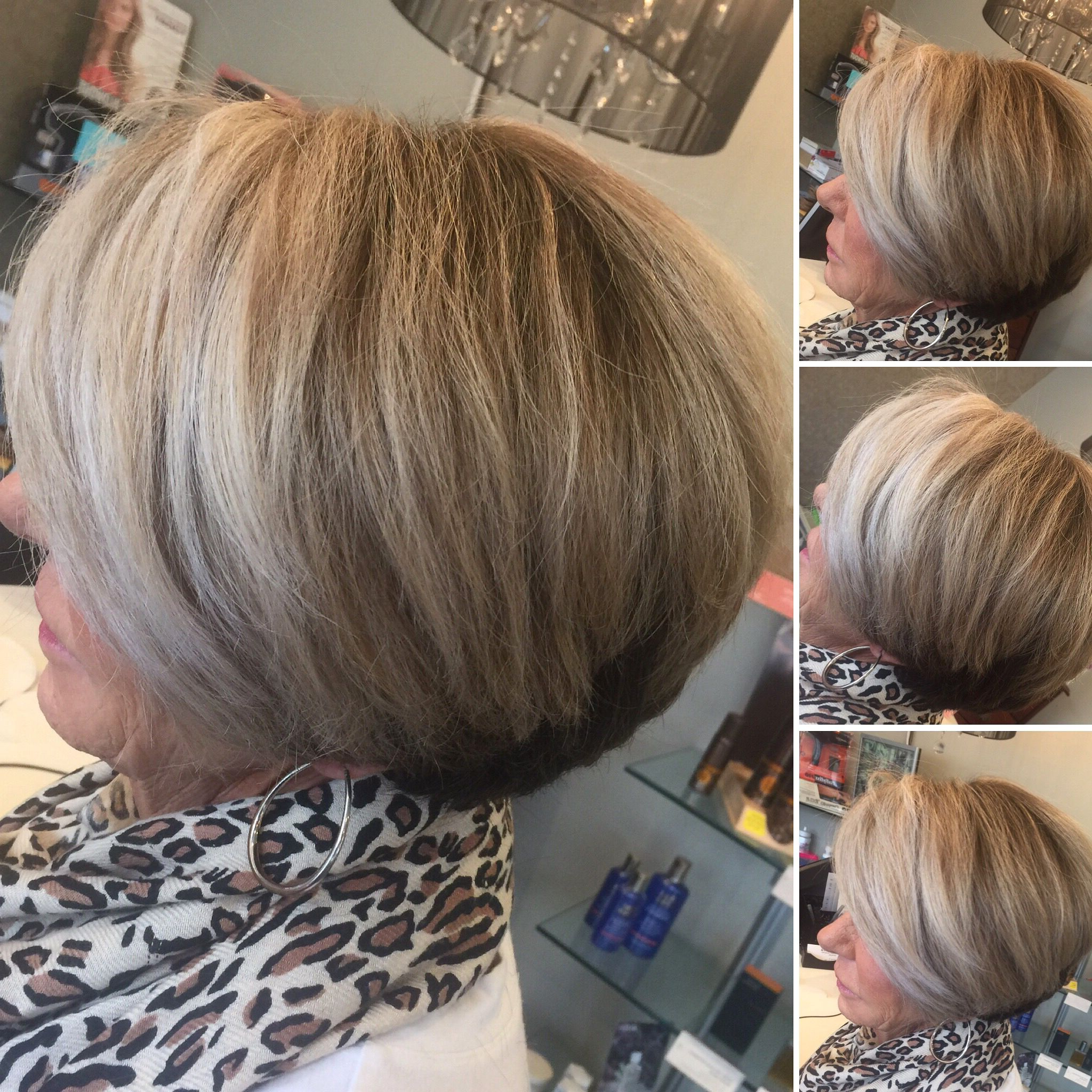 Dark Ash Blonde Base With Light Blonde Highlights, Short Haircut Within Angled Ash Blonde Haircuts (Gallery 13 of 20)