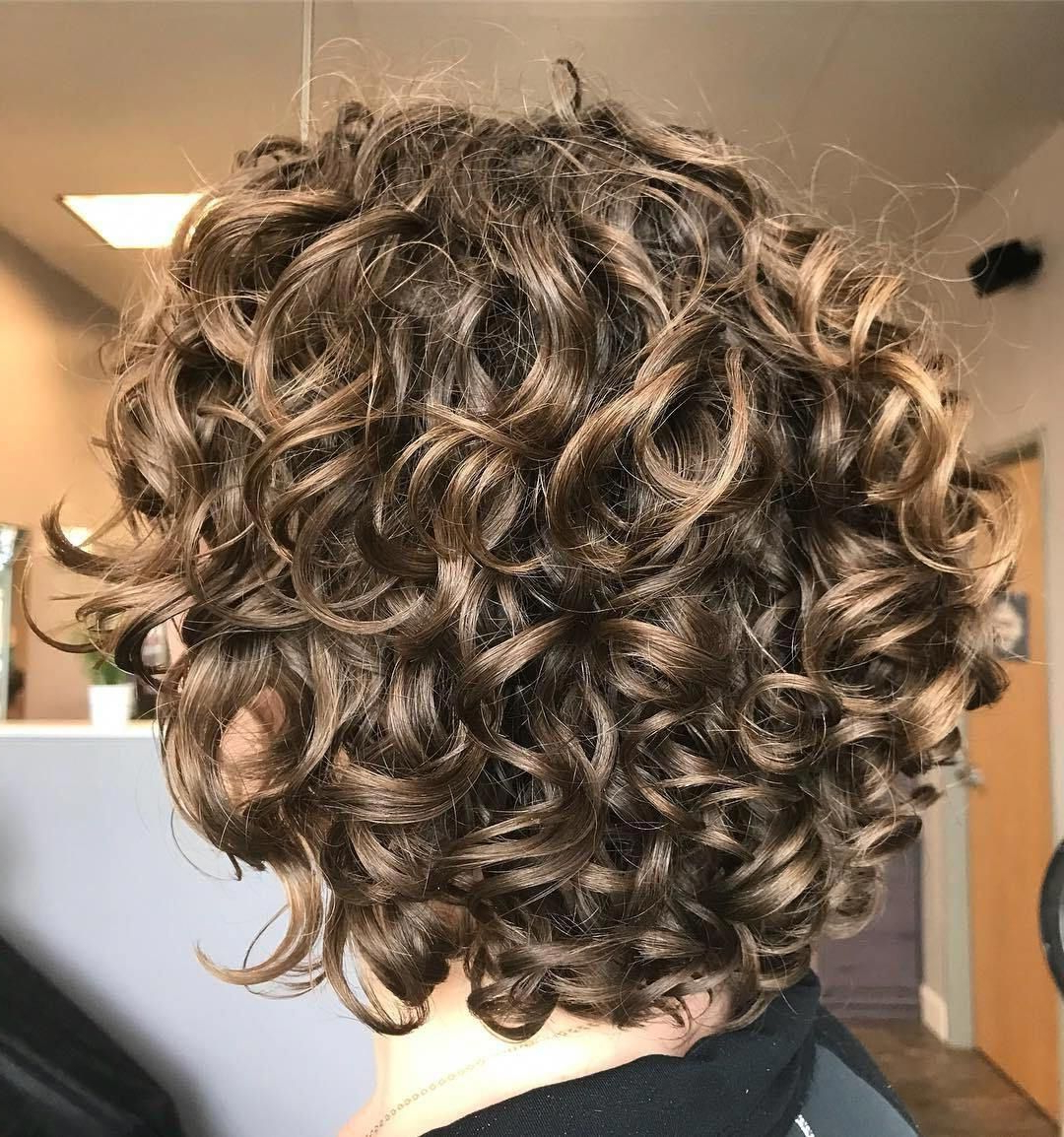 Dark Blonde Short Curly Hairstyle #naturalhairstyles | Natural With Playful Blonde Curls Hairstyles (View 9 of 20)