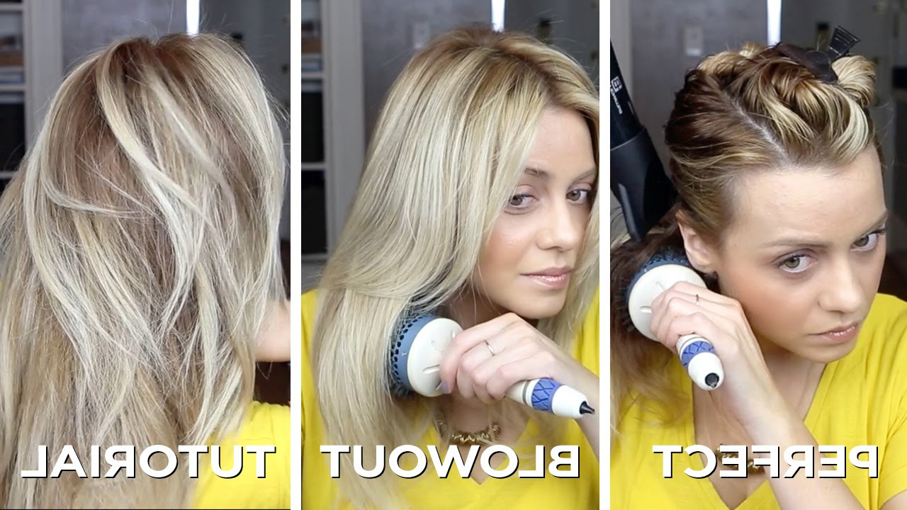 Diy Salon Quality Blowout On Long Hair In Just 15 Minutes. How To For Perfect Blow Out Hairstyles (Gallery 19 of 20)