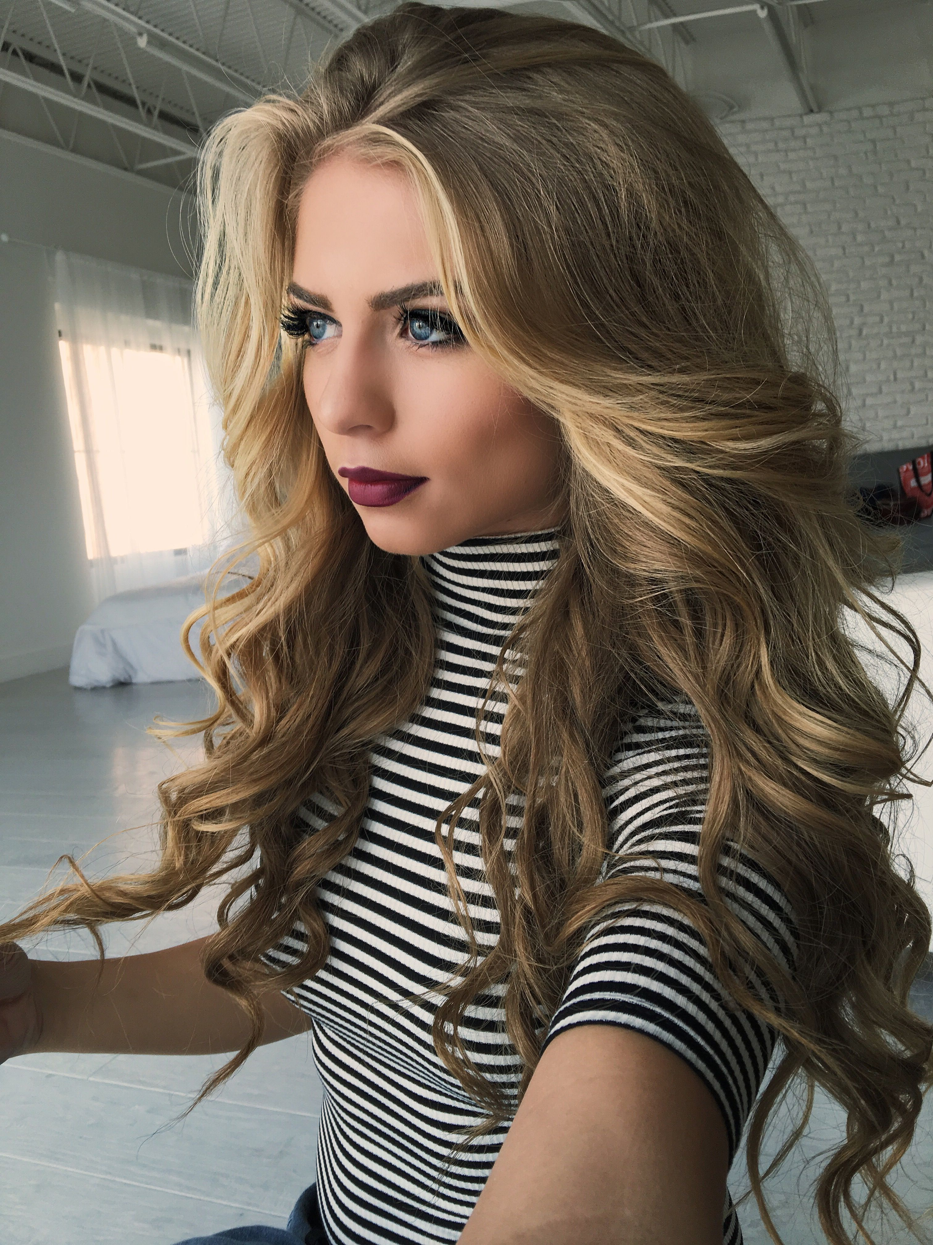 Favorite Beauty Products | Hair | Pinterest | Hair, Hair Styles And For Playful Blonde Curls Hairstyles (View 10 of 20)