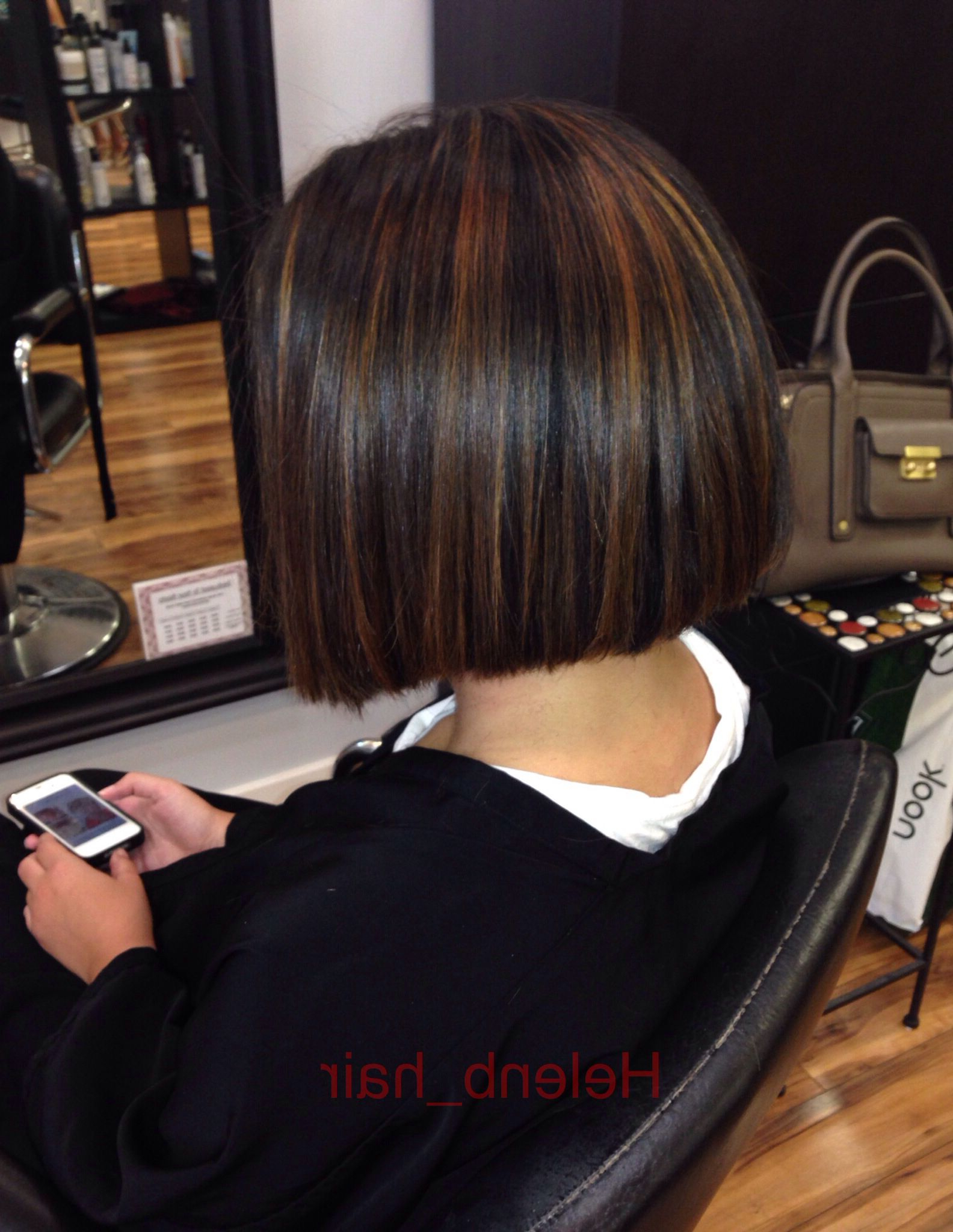 Graduated Bob & A Two Tone Balayage With A Honey Caramel Glaze For Voluminous Two Tone Haircuts (View 17 of 20)
