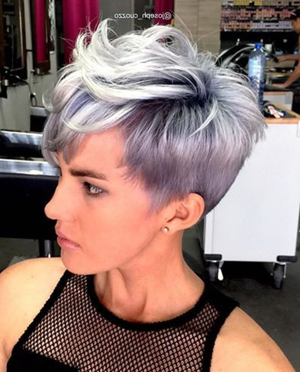 Gray Balayage Short Pixie Haircut For Girls – Hairstyles With Gray Pixie Hairstyles For Thick Hair (Gallery 15 of 20)