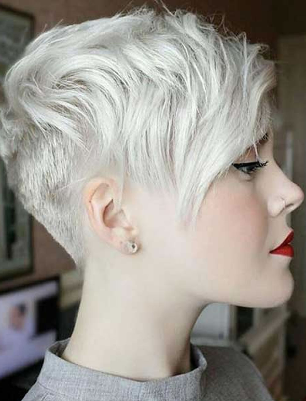 Gray Short Hair Pixie Hairstyles For Girls 2017 2018 – Hairstyles Regarding Gray Pixie Hairstyles For Thick Hair (View 15 of 20)