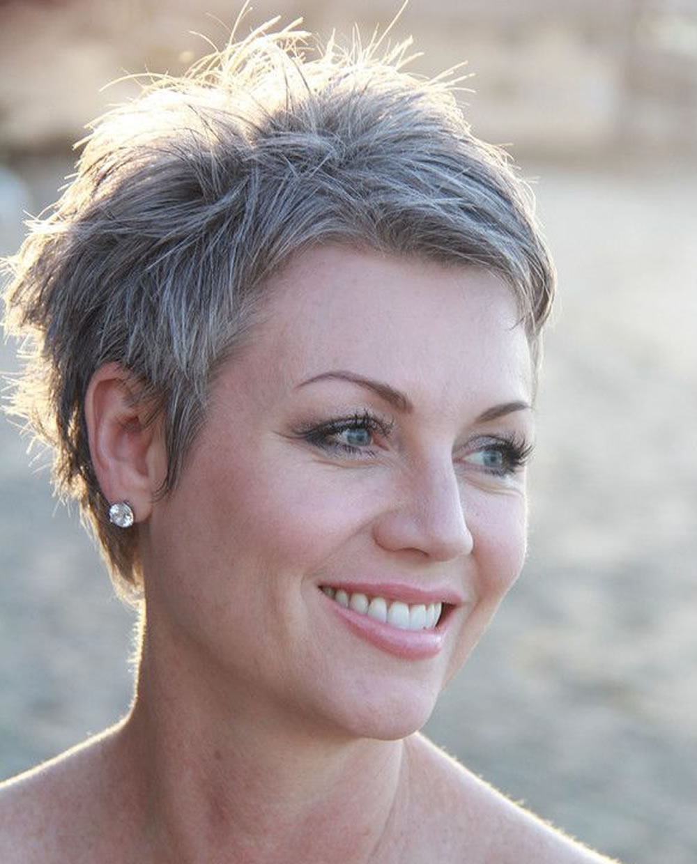 Grey Pixie Hair Cut & Gray Hair Colors For Short Hair – Hairstyles For Gray Pixie Hairstyles For Over (View 7 of 20)
