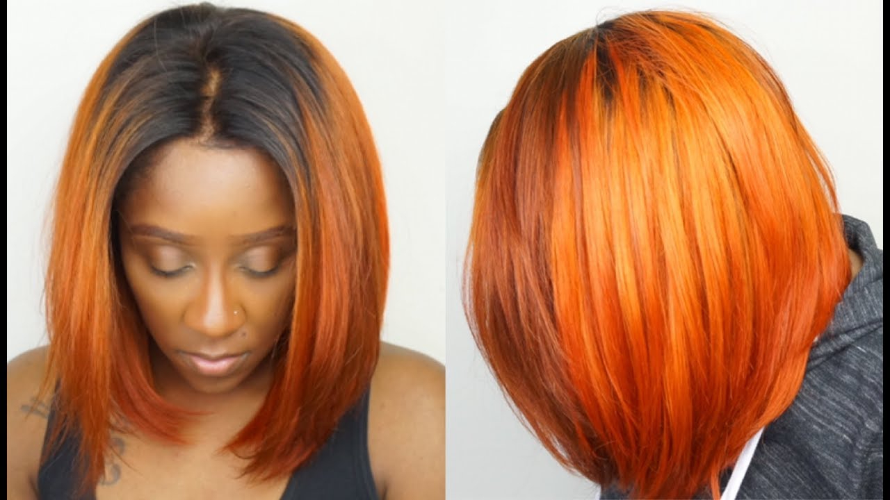 How To Get Orange Hair Easily!! | Dye Black Hair To Orange Step Regarding Burnt Orange Bob Hairstyles With Highlights (View 11 of 20)