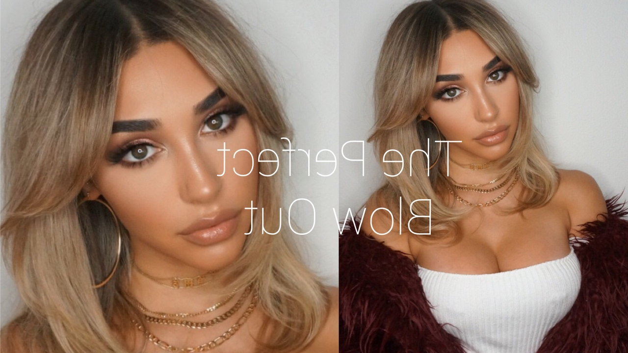 How To Get The Perfect Blowout And Style Bangs!! || Chantel Jeffries Intended For Perfect Blow Out Hairstyles (View 4 of 20)