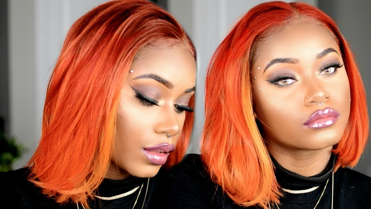 How To Get The Perfect Copper Orange Hair For Fall | Start To Finish With Regard To Burnt Orange Bob Hairstyles With Highlights (View 12 of 20)