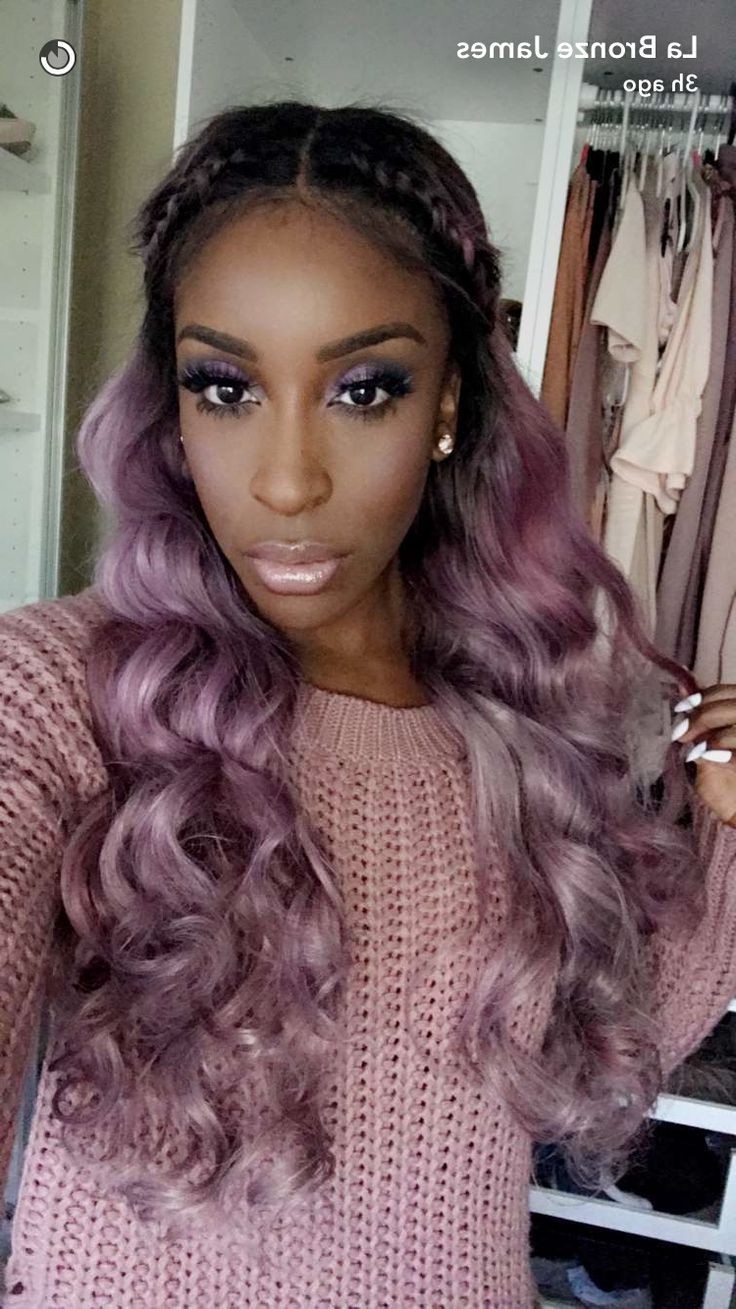 Jackie Aina, Lavender Hair, Purple Hair, Pastel Hair, Unicorn Hair In Lavender Hairstyles For Women Over 50 (Gallery 20 of 20)
