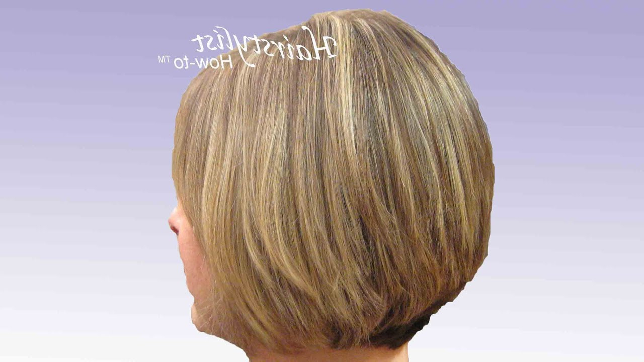 Layered Graduated Bob: Hair Tutorial: Stacked Bob, Razor Cut – Youtube For Brown And Blonde Graduated Bob Hairstyles (View 18 of 20)