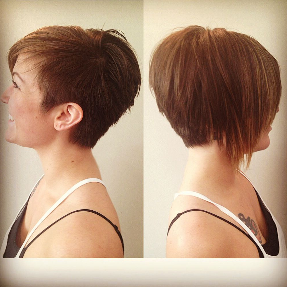 Like The Left Picture For Both Sides) Asymmetrical Pixie With Regard To Asymmetrical Pixie Bob Hairstyles (Gallery 3 of 20)