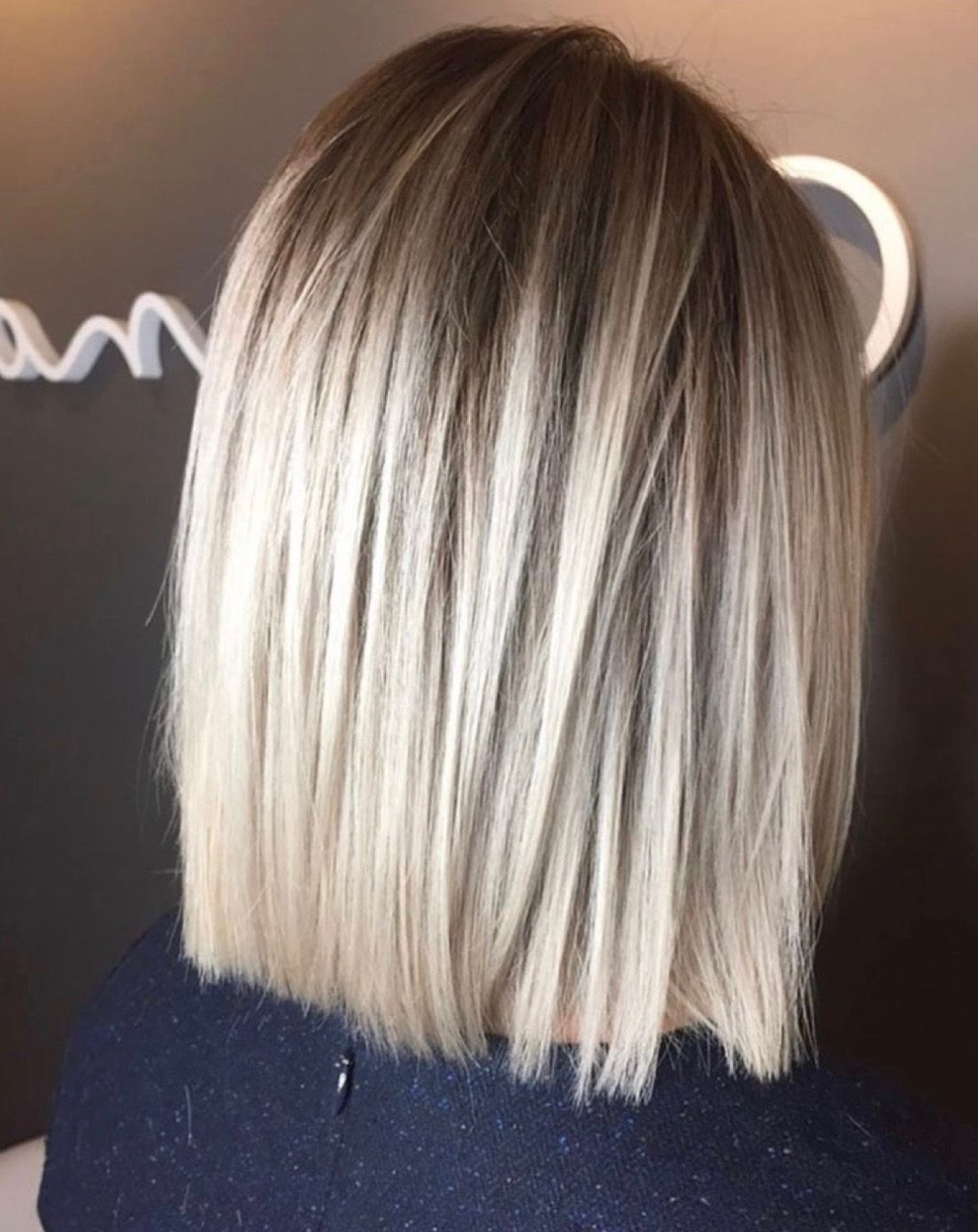 Love This Blunt One Length For The Perfect, Most Flattering Short Inside One Length Balayage Bob Hairstyles With Bangs (Gallery 3 of 20)